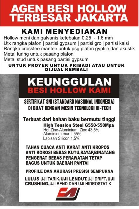 Harga Partisi Gypsum Rangka Material Bahan Metal Stud 3 76 Per Batang Paling Murah Jakarta